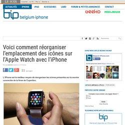 Voici comment réorganiser l'emplacement des icônes sur l'Apple Watch avec l'iPhone