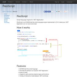 ReoScript - .NET Script Language Engine - unvell