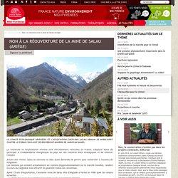 Non à la réouverture de la mine de SALAU (Ariège) : Signez la pétition!