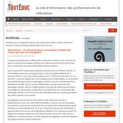 Réouverture : un avocat propose une analyse juridique des risques pris par les enseignants - Actualité - Archives