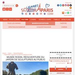 Musée Rodin, réouverture du jardin de sculptures au public...