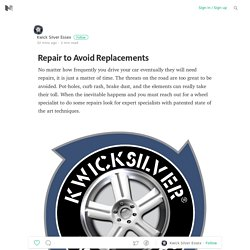 Repair to Avoid Replacements