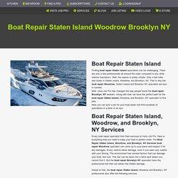 Boat Repair Staten Island