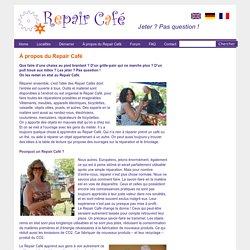 À propos du Repair Café « Repair Café