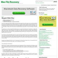 Repair Disk Mac