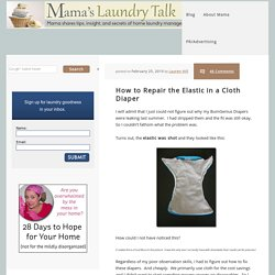 How to Repair the Elastic in a Cloth Diaper