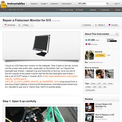 Repair A Flatscreen Monitor For $15