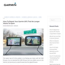 How To Repair Your Garmin GPS That No Longer Wants To Open