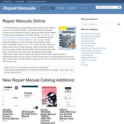 Repair Manual | User Manual | Haynes Repair Manual | RepairManual.com