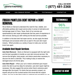 Paintless Dent Removal Frisco TX
