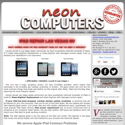 Repair For All Ipad Common Problems Las Vegas NV - Neon Computers