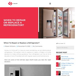 When To Repair or Replace a Refrigerator? - Swaart