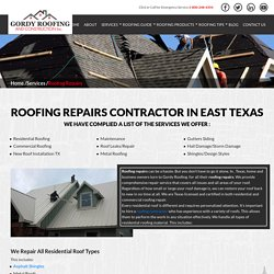 Minor Roof Repair and Replacement in Mineola, Mount Vernon Texas