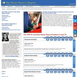 TOP 10 Auto Body Repair Shops in Seminole County FL » The Prime Buyer's Report