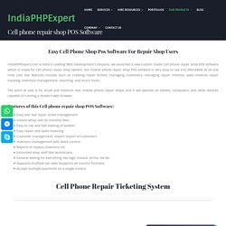 Best Cell phone repair shop POS Software and ticketing CMS