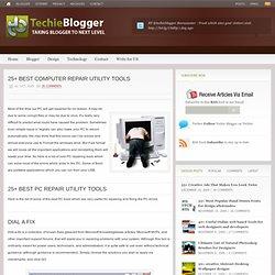 25+ Best PC repair Utility Tools