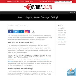 Procedure to Fix a Water Damaged Ceiling