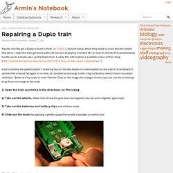 Repairing a Duplo train