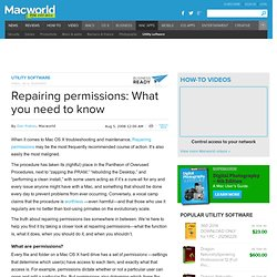 Repairing permissions: What you need to know