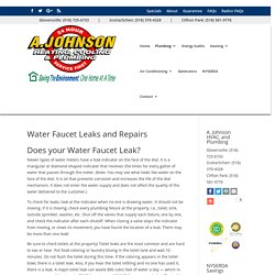 Water Faucet Leaks and Repairs
