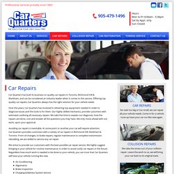 Car Repairs Toronto
