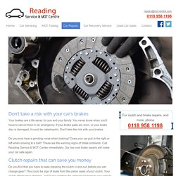 Brake repairs, piston seals and clutch repairs for your vehicle in Reading
