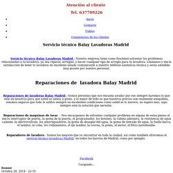 Servicio técnico Balay Madrid