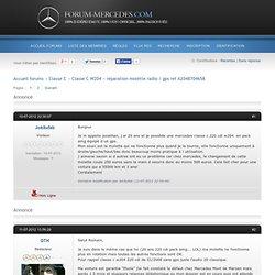 réparation molette radio / gps ref A2048704658 (Page 1) / Classe C W204 / Forum-mercedes.com