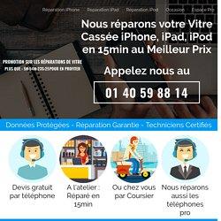 Réparation de votre Vitre Cassée iphone en 15 min au meilleur prix