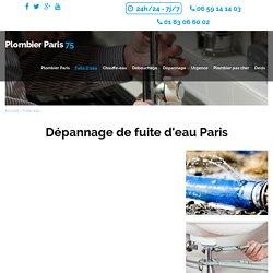 Réparation fuite d'eau Paris : Plombier sur Paris