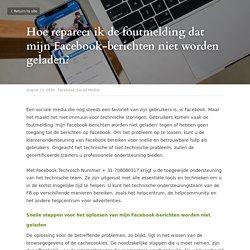 Hoe repareer ik mijn Facebook-berichten worden niet geladen?