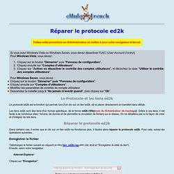 Réparer le protocole ed2k