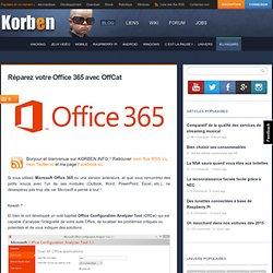 Réparez votre Office 365 avec OffCat