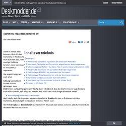 Startmenü reparieren Windows 10 Deskmodder Wiki