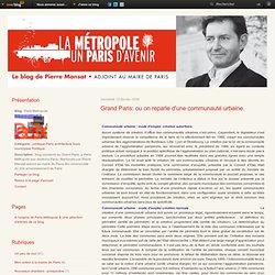 Grand Paris: ou on reparle d'une communauté urbaine. - Paris Met