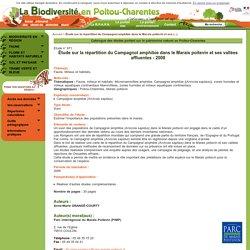 Étude sur la répartition du Campagnol amphibie dans le Marais poitevin et ses vallées affluentes - 2008 - Catalogue des études portant sur le patrimoine naturel en Poitou-Charentes