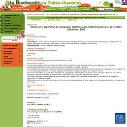 Étude sur la répartition du Campagnol amphibie dans le Marais poitevin et ses vallées affluentes - 2008
