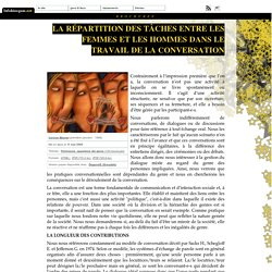La répartition des tâches entre les femmes et les hommes dans le travail de la conversation
