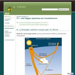 5-1 - Une inégale répartition de l'ensoleillement - A. Cotten