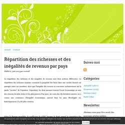 Répartition des richesses et des inégalités de revenus par pays -