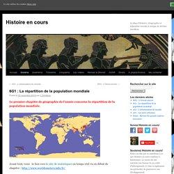 6G1 : La répartition de la population mondiale