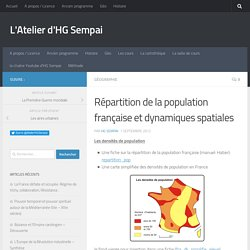 Répartition de la population française et dynamiques spatiales
