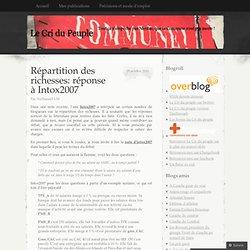 Répartition des richesses: réponse à Intox2007