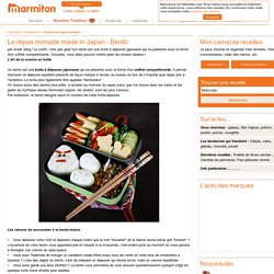Le repas nomade made in Japan - Bento -