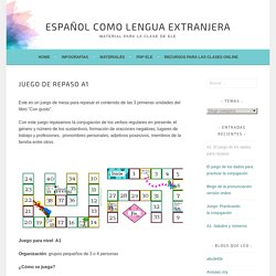 Juego de repaso A1 – Español como lengua extranjera