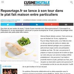 Repasrtage.fr se lance à son tour dans le plat fait maison entre particuliers