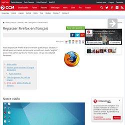 Repasser Firefox en français