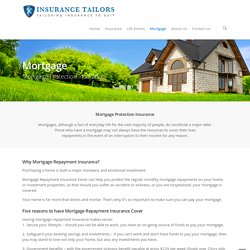 Mortgage Protection Insurance – Insurance Tailors