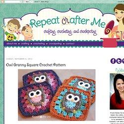 Owl Granny Square Crochet Pattern
