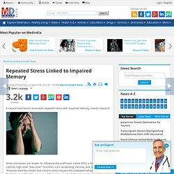 Repeated Stress Linked to Impaired Memory